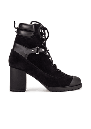 Valentino Rockstud Combat Boots in Black - Black. Size 40 (also in 39.5,36,41).