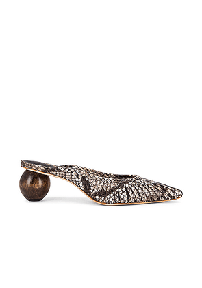 Cult Gaia Alia Mule in Soil Multi - Animal Print,Neutral,Brown. Size 36 (also in 35,36.5,37,37.5,38,38.5,39,39.5,40,41).