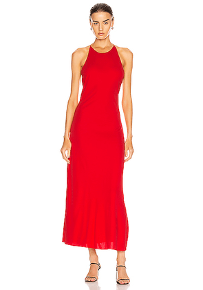 Rosetta Getty Cross Back Slip Dress in Red - Red. Size M (also in XS,S,L).