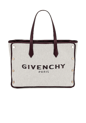 Givenchy Medium Bond Canvas & Leather Tote in Aubergine - Gray. Size all.