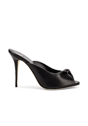 Manolo Blahnik Aliar 105 Mule in Black - Black. Size 37 (also in 36,37.5,38,39,41).