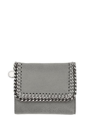 Falabella Shaggy Faux Leather Wallet