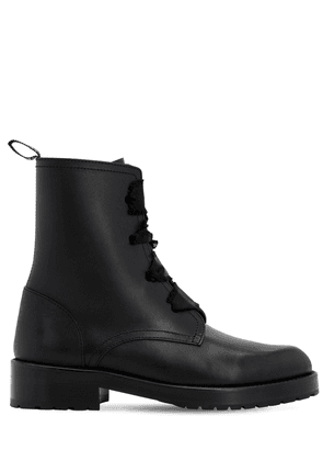 30mm Comballet Leather Ankle Boots