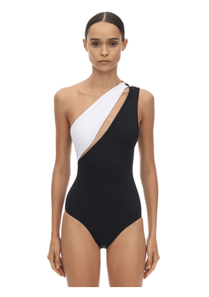 Lycra One Shoulder One Piece Swimsuit