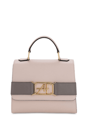 Small Grained Leather Top Handle Bag