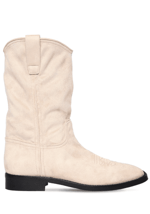 20mm Faux Suede Ankle Boots