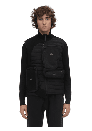 Functional Puffer Vest W/ Knit Inserts
