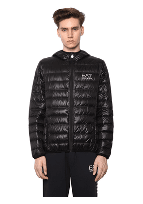 Hooded Train Core Light Down Jacket