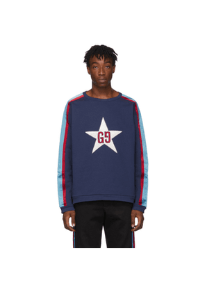 Gucci Blue GG Star Patch Sweatshirt