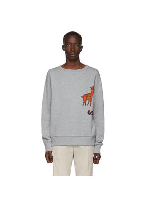Gucci Grey GG Deer Sweatshirt