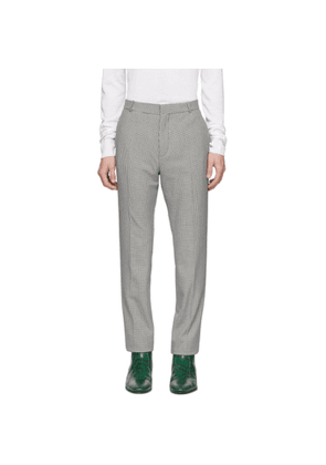 Balmain Black and White Houndstooth Tailored Fit Trousers