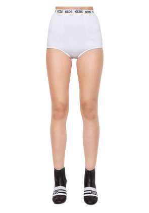 Logo Band Viscose Knit Mini Shorts