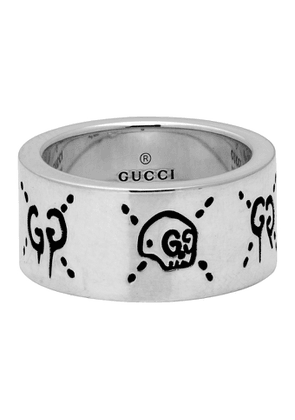 Gucci Silver Large GucciGhost Ring