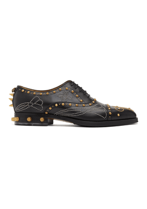 Gucci Black Studded Brogues