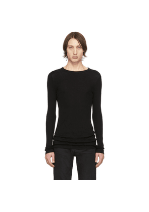 Saint Laurent Black Ribbed Jersey T-Shirt
