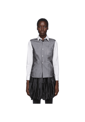 Comme des Garcons White and Black Thin Georgette Overlay Shirt