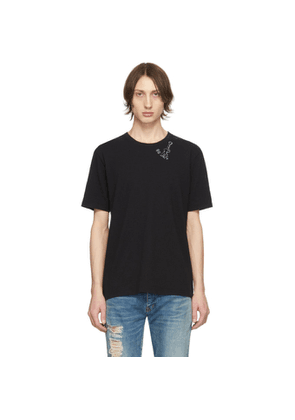 Saint Laurent Black Guitar Print T-Shirt