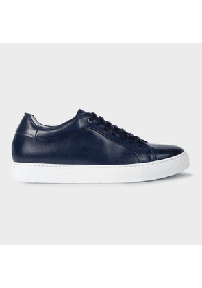 Men's Dark Navy Leather 'Basso' Trainers
