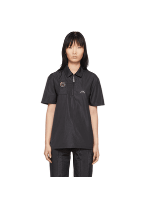 A-Cold-Wall* Black Compass Side Snap Polo