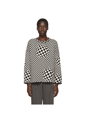 Off-White Black and Off-White Checked Sweater