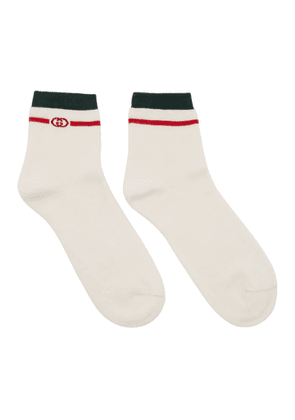 Gucci White Interlocking G Socks