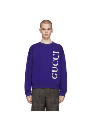 Gucci Blue Logo Sweatshirt
