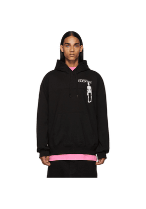 Doublet Black Surprise Embroidery Hoodie