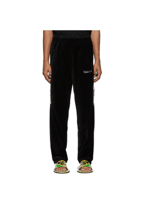 Doublet Black Lined Chaos Embroidery Lounge Pants