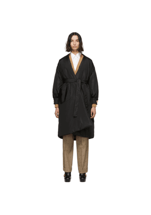 Gucci Black Silk Oversized Taffeta Coat