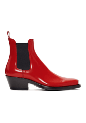 Calvin Klein 205W39NYC Red Western Chris Crosta Chelsea Boots