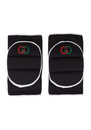 Gucci Black GG Embroidered Kneepads