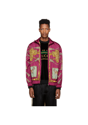 Gucci Purple Horses and Tassels Jacket