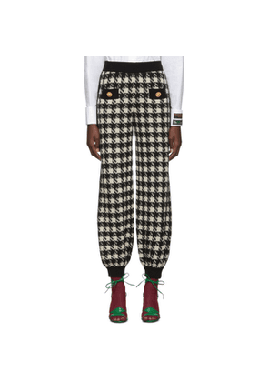 Gucci Black and Off-White Houndstooth Lounge Pants
