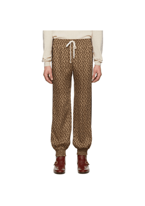 Gucci Brown Jacquard Gucci Rhombus Track Pants