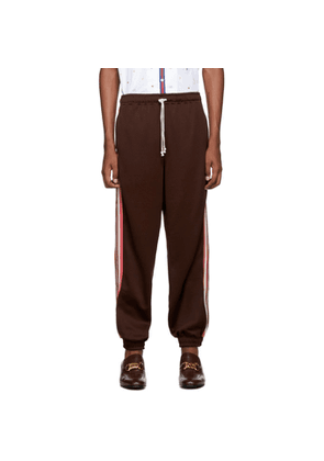 Gucci Brown G Rhombus Patch Lounge Pants