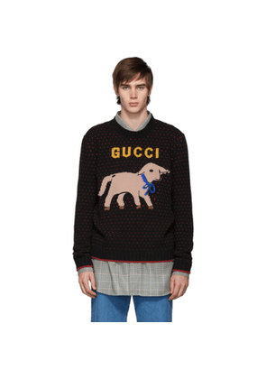 Gucci Black Wool Lamb Sweater