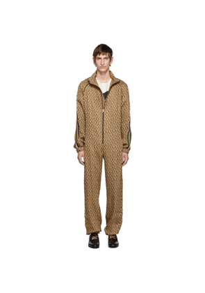 Gucci Brown G Rhombus Jumpsuit