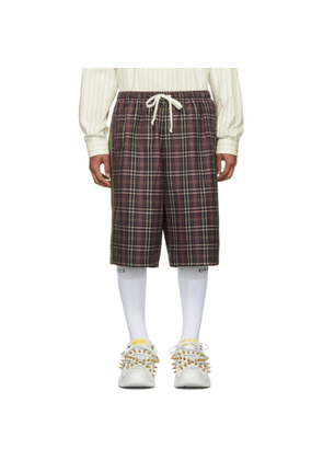 Gucci Purple and Black Fancy Tartan Shorts