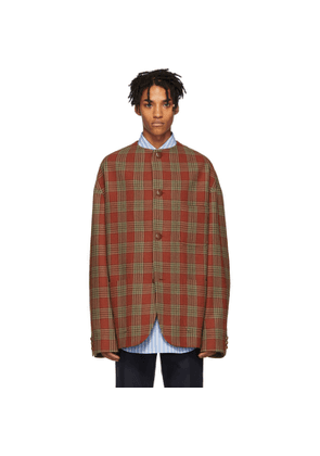 Gucci Red Check Wool Jacket