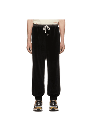 Gucci Black Chenille Jogging Lounge Pants