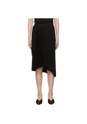 Balenciaga Black Fancy Pleat Skirt