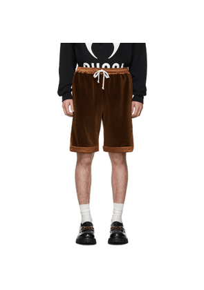 Gucci Brown Chenille Shorts