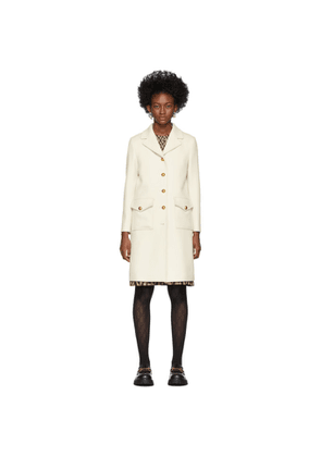 Gucci White Single-Breasted Coat
