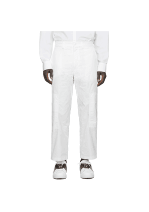 Valentino White Technical Twill Cargo Pants