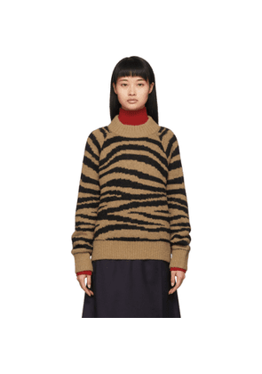 A.P.C. Tan and Black Jemima Sweater