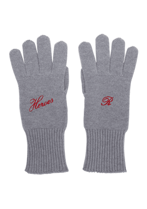 Raf Simons Grey Cashmere Heroes Gloves