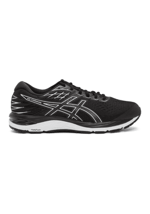 Asics Black and White Gel-Cumulus 21 Sneakers