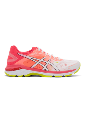 Asics Pink and White GT-2000 7 Sneakers