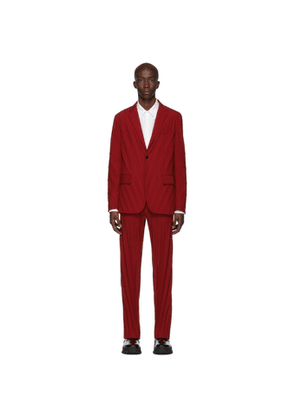 Valentino Red Plisse Suit