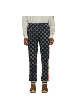 Gucci Navy GG Jacquard Lounge Pants
